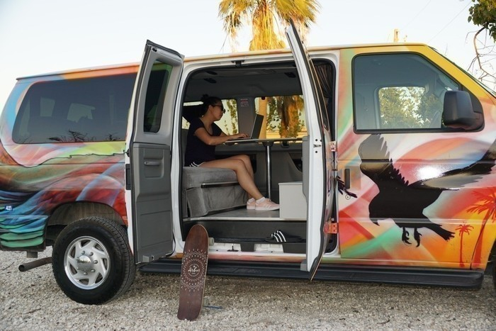 Working-remote-campervan-florida-keys