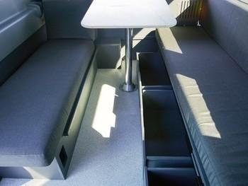 Sm escape campervans big sur model interior fitout storage