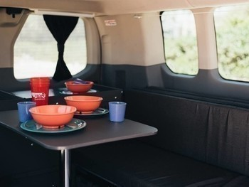 Sm escape campervans big sur model interior fitout table