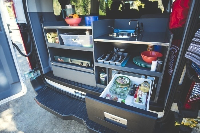 Escape-campervans-big-sur-model-kitchen-refrigerator